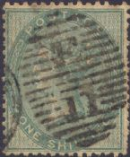 1856 1s Green SG72 Plate 1